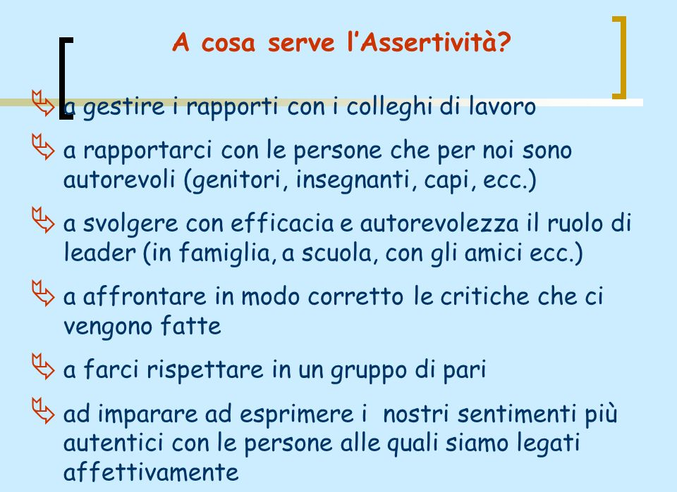 A cosa serve l'Assertività