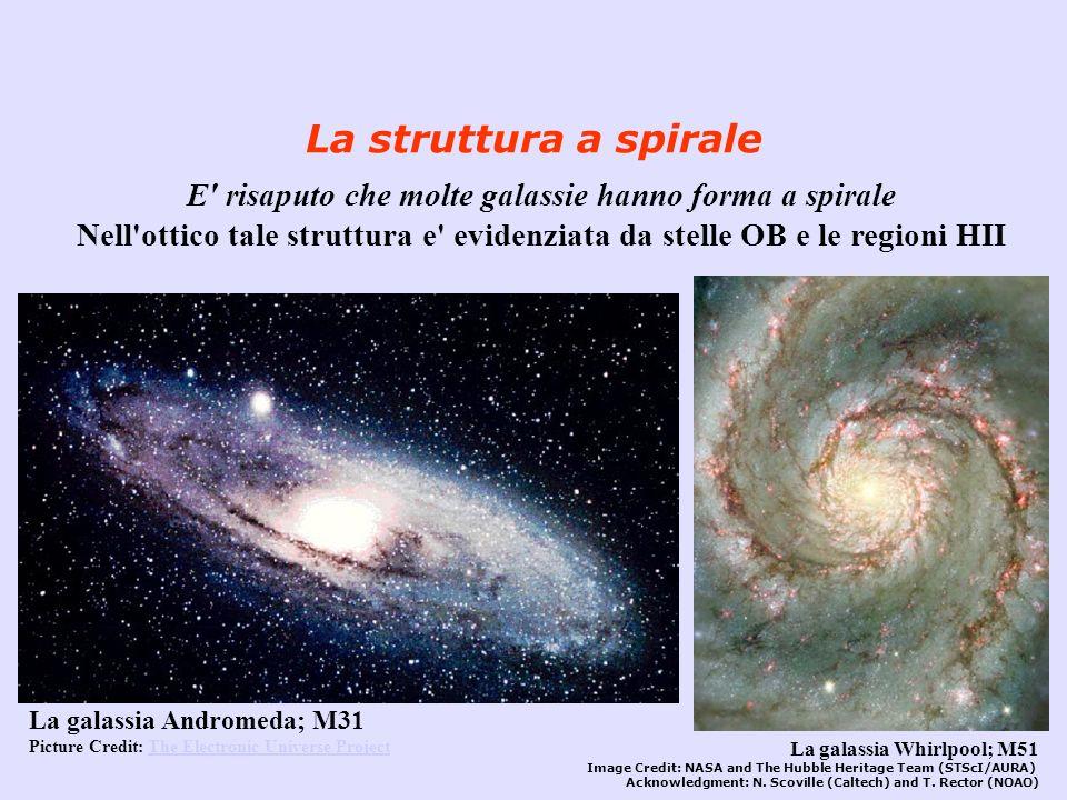 E risaputo che molte galassie hanno forma a spirale