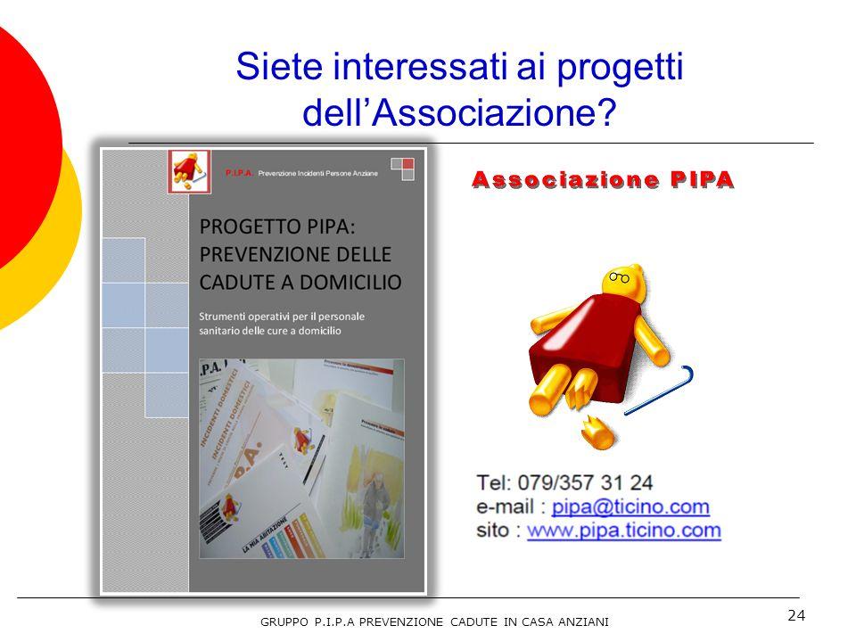 Siete interessati ai progetti dell'Associazione