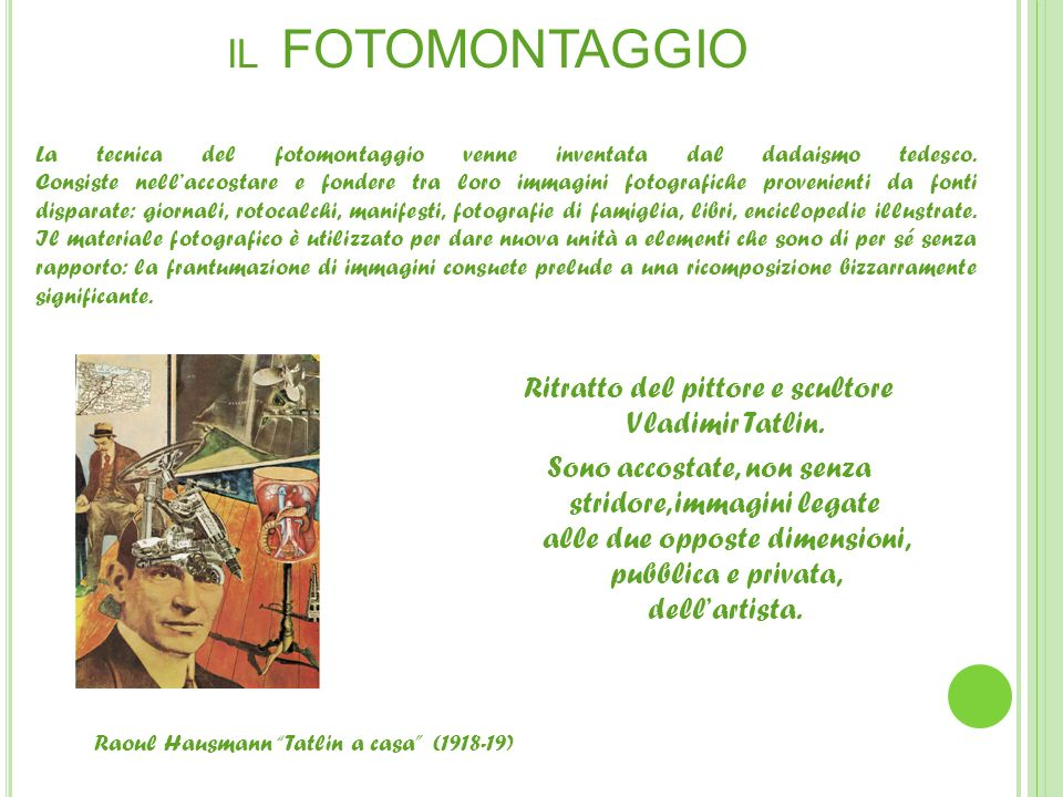 IL FOTOMONTAGGIO