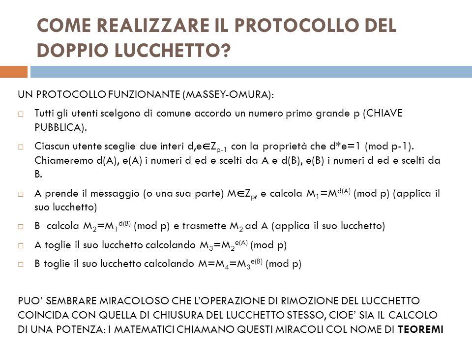 COME REALIZZARE IL PROTOCOLLO DEL DOPPIO LUCCHETTO