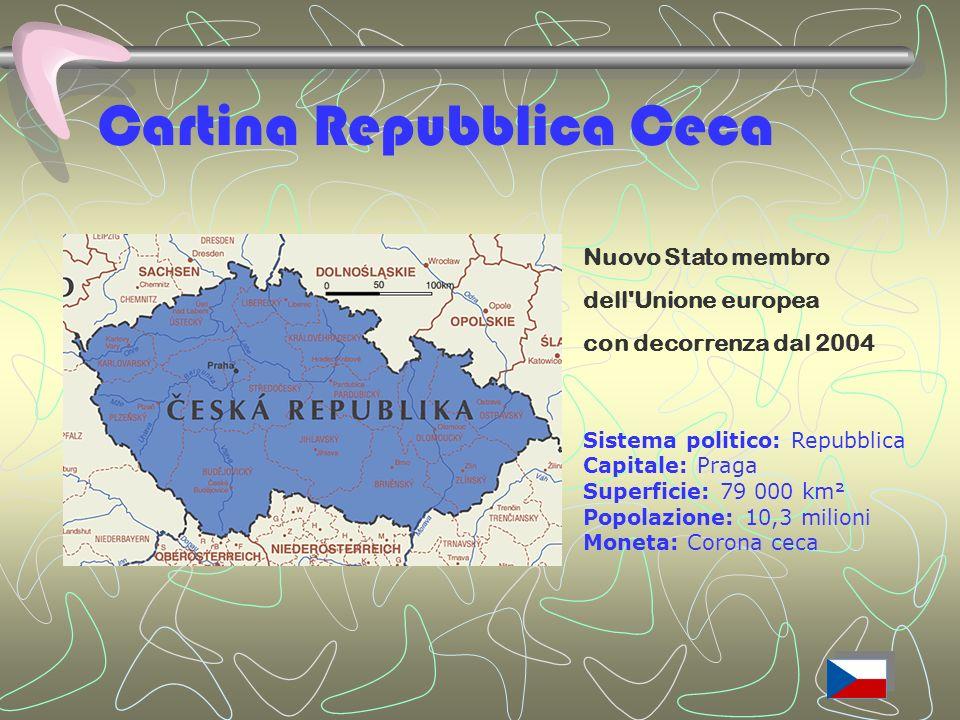 Cartina Repubblica Ceca