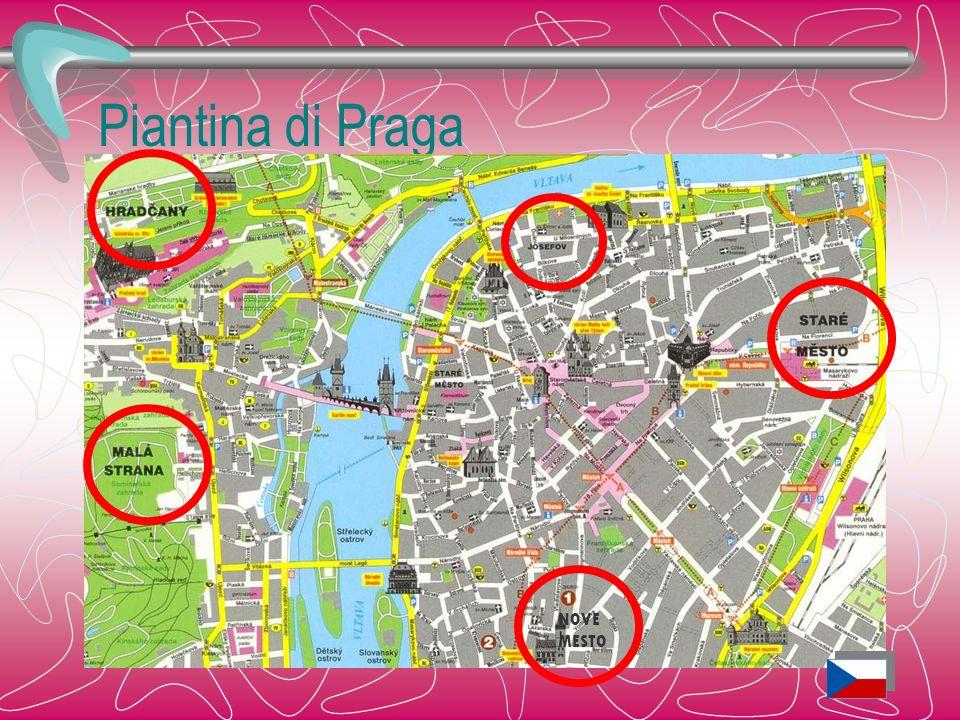 Piantina di Praga NOVE MESTO Praga è la sintesi di 5 nuclei urbani: