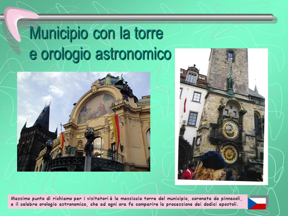 Municipio con la torre e orologio astronomico