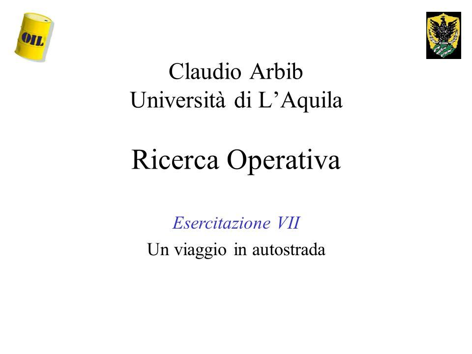 Claudio Arbib Università di L'Aquila Ricerca Operativa