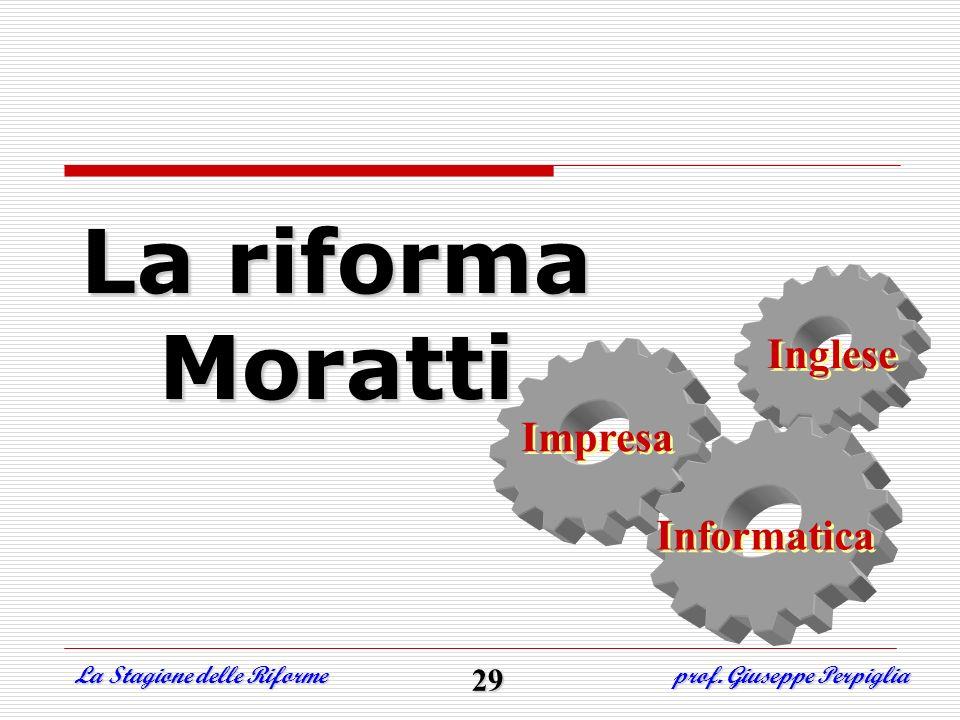 La riforma Moratti Inglese Impresa Informatica 29