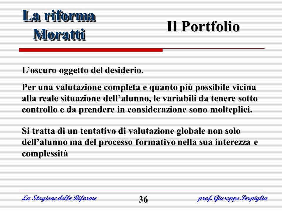 La riforma Moratti Il Portfolio