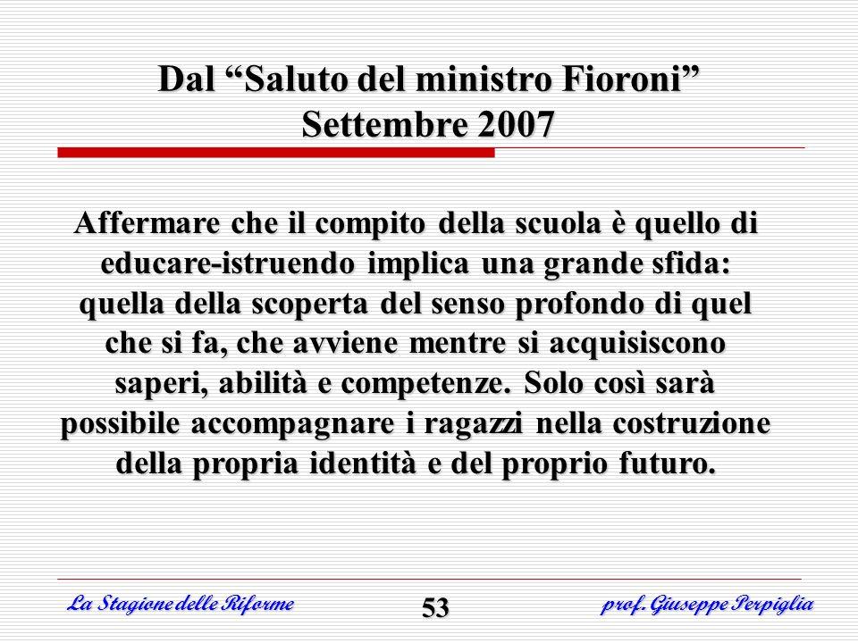 Dal Saluto del ministro Fioroni