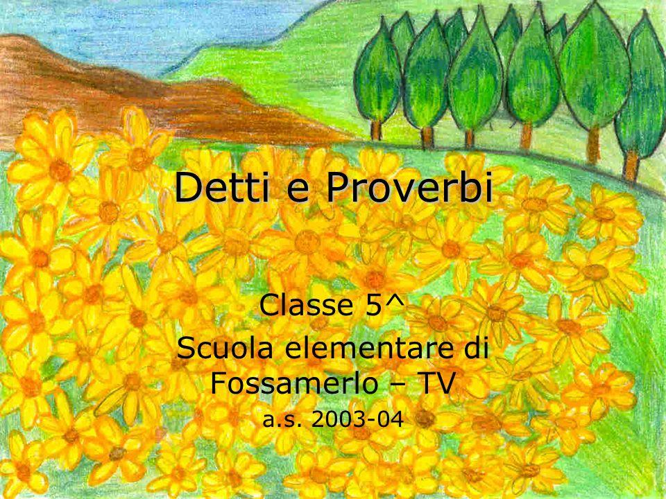 Classe 5^ Scuola elementare di Fossamerlo – TV a.s. 2003-04