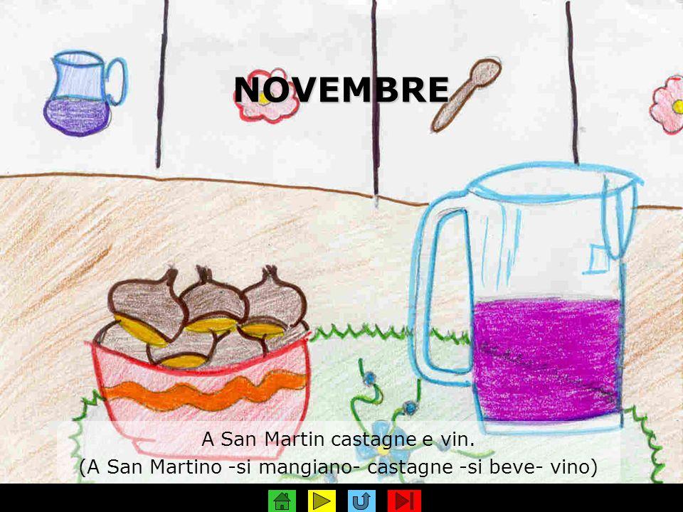 NOVEMBRE A San Martin castagne e vin.