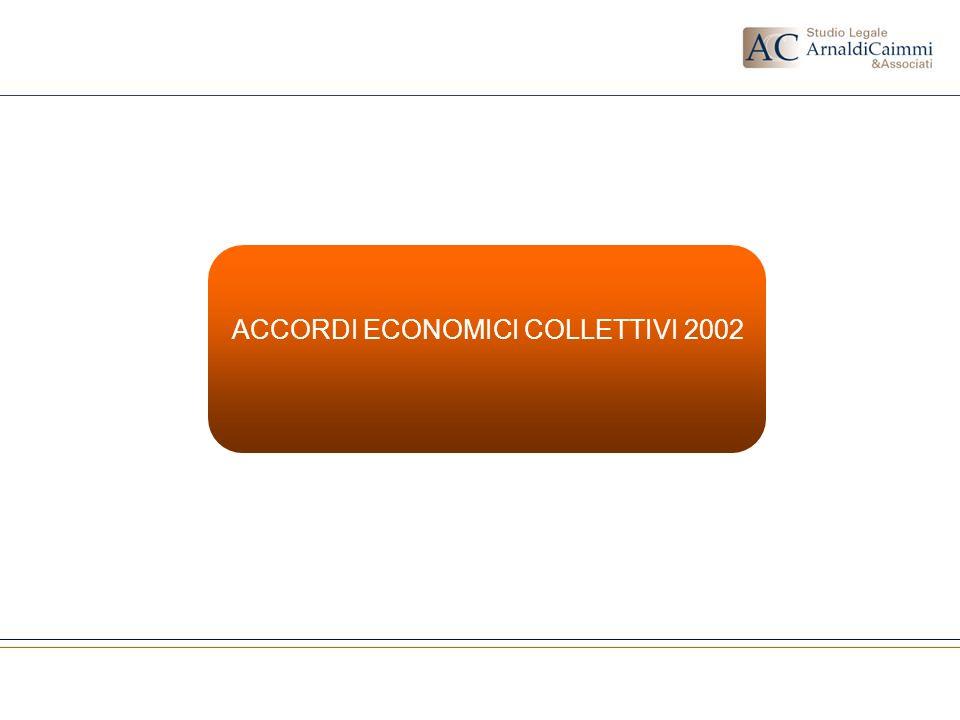 ACCORDI ECONOMICI COLLETTIVI 2002
