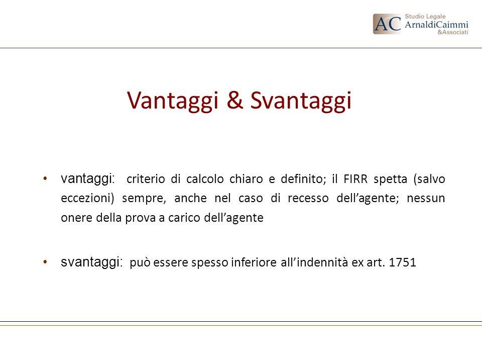 Vantaggi & Svantaggi