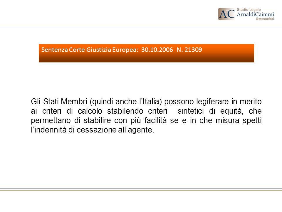 Sentenza Corte Giustizia Europea: 30.10.2006 N. 21309