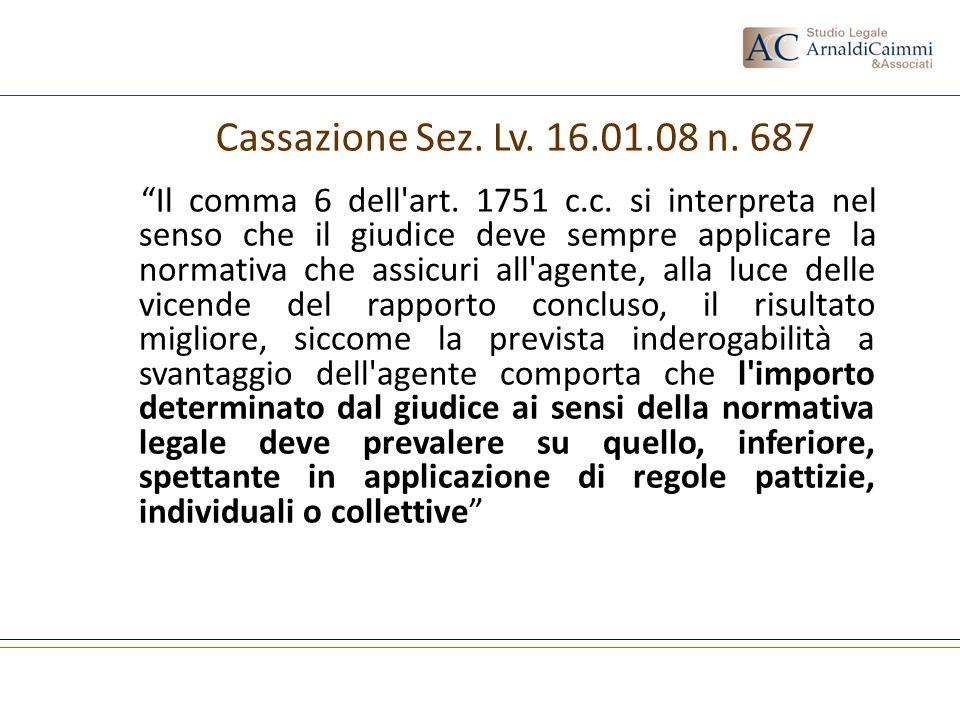 Cassazione Sez. Lv. 16.01.08 n. 687