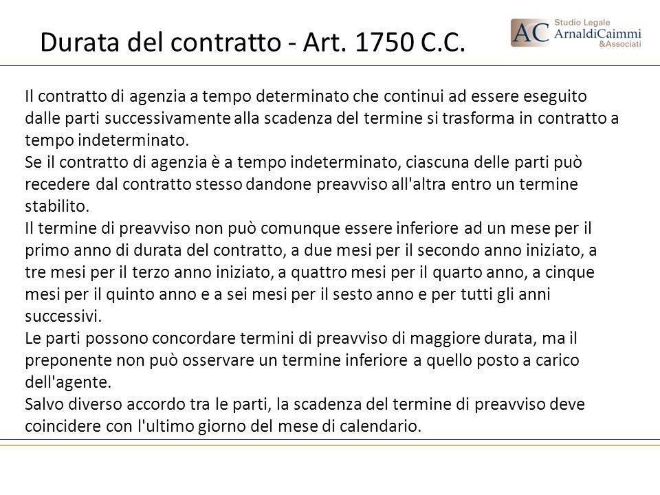 Durata del contratto - Art. 1750 C.C.