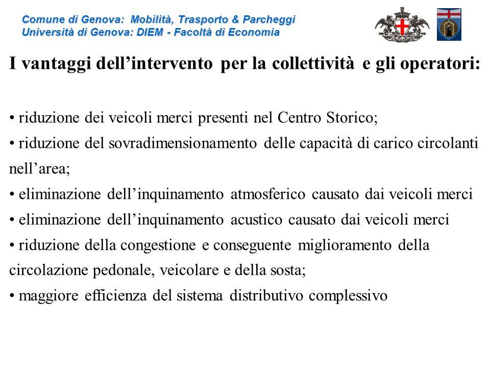 I vantaggi dell'intervento per la collettività e gli operatori: