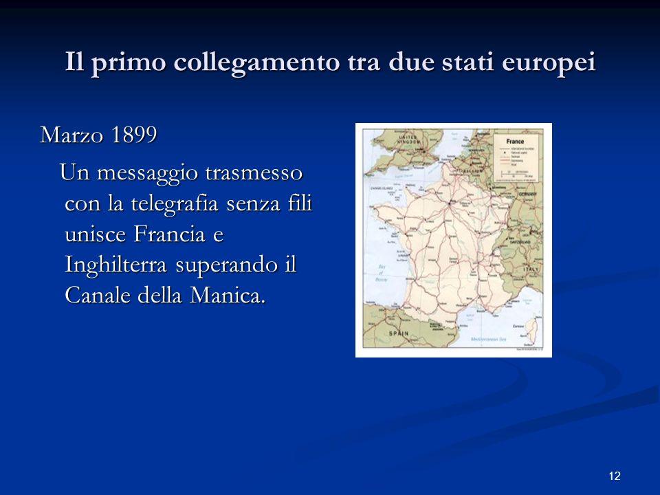 Il primo collegamento tra due stati europei