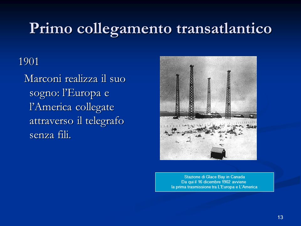 Primo collegamento transatlantico