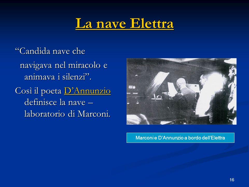 Marconi e D'Annunzio a bordo dell'Elettra