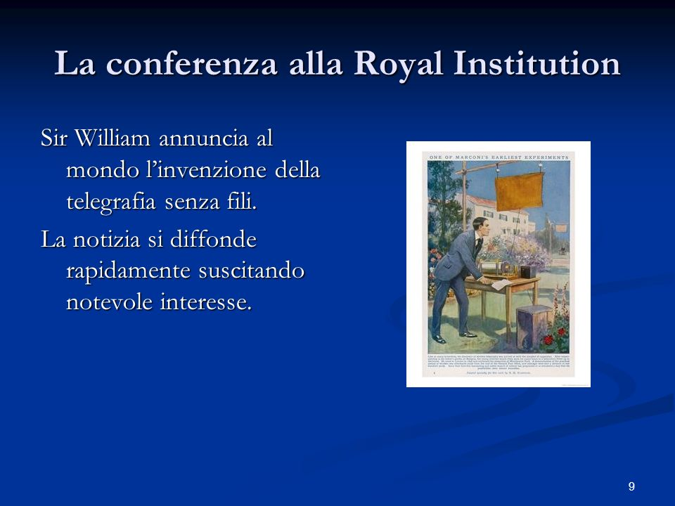 La conferenza alla Royal Institution
