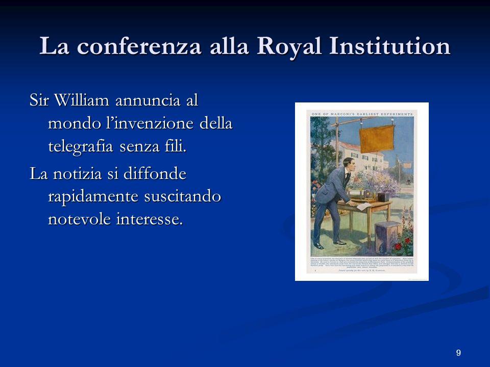 La conferenza alla Royal Institution