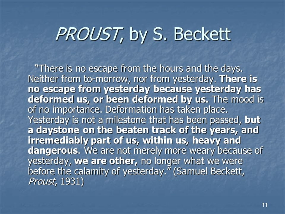PROUST, by S. Beckett