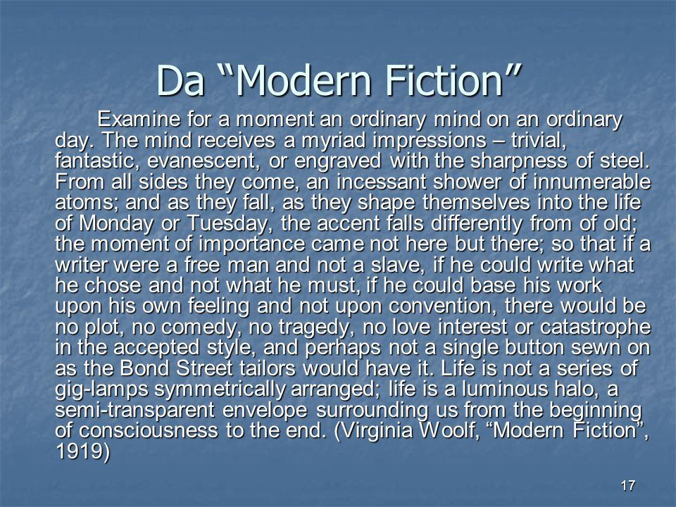 Da Modern Fiction