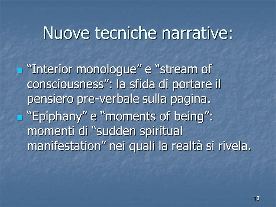 Nuove tecniche narrative: