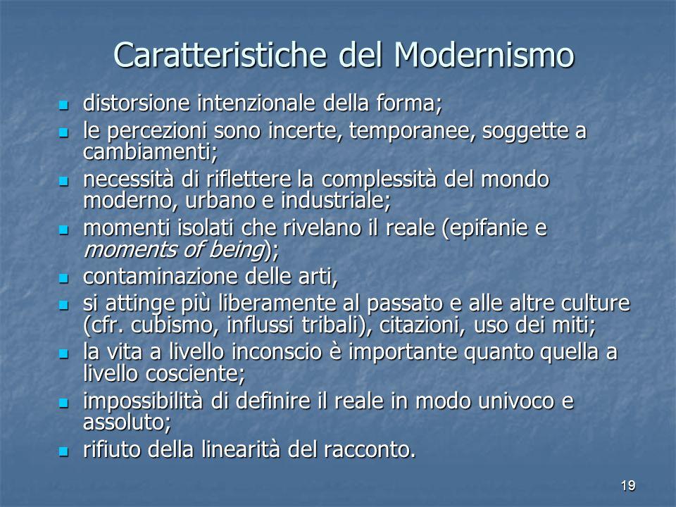 Caratteristiche del Modernismo