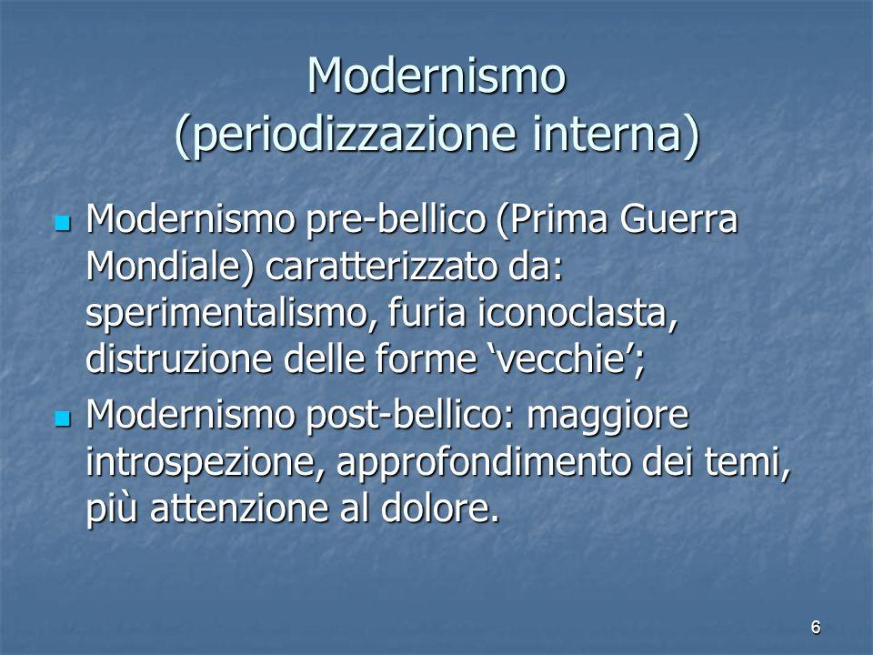 Modernismo (periodizzazione interna)