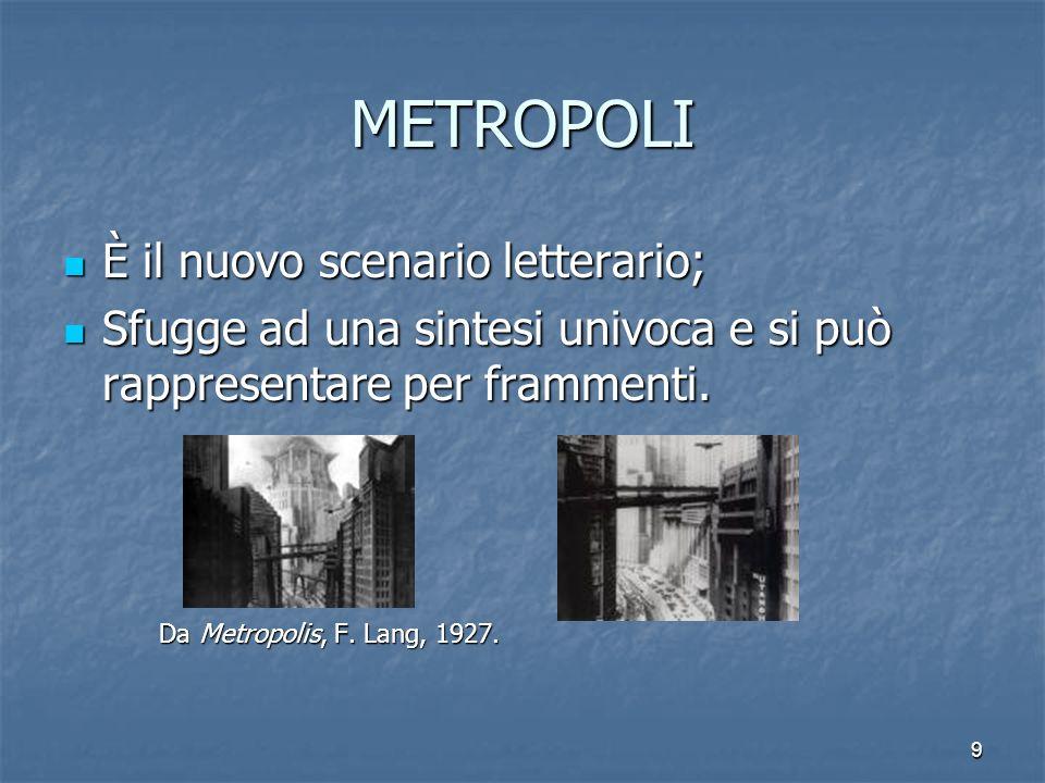 METROPOLI È il nuovo scenario letterario;