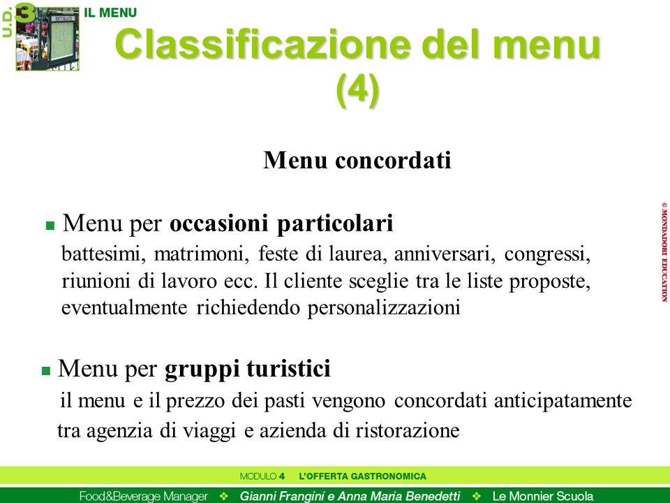 Classificazione del menu (4)