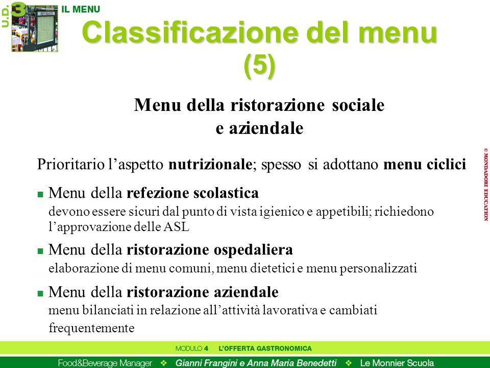Classificazione del menu (5)