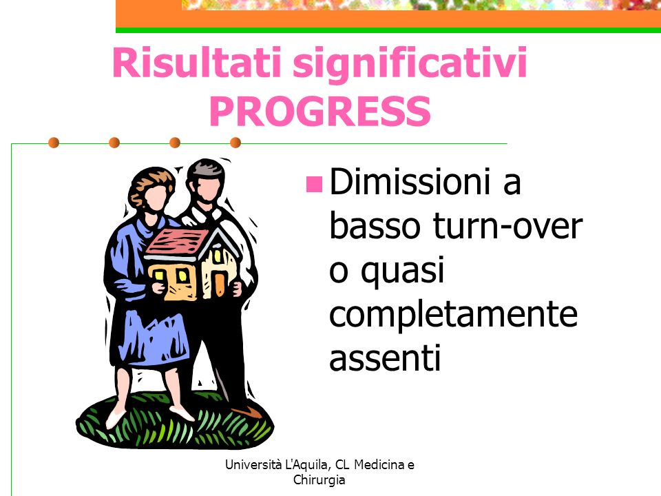 Risultati significativi PROGRESS
