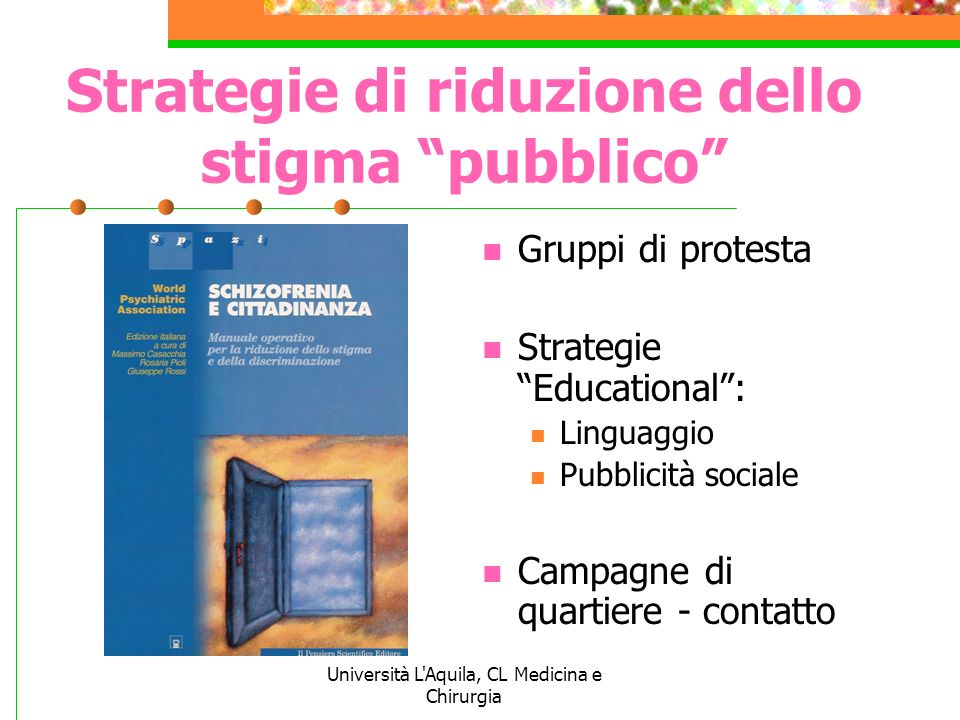 Strategie di riduzione dello stigma pubblico