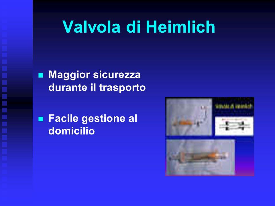 Valvola di Heimlich Maggior sicurezza durante il trasporto