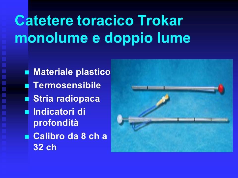 Catetere toracico Trokar monolume e doppio lume