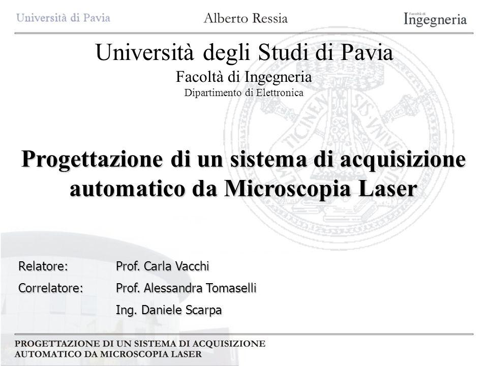 Università degli Studi di Pavia Facoltà di Ingegneria Dipartimento di Elettronica