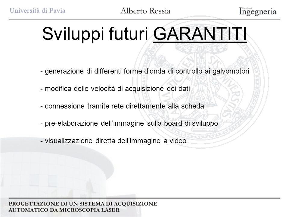 Sviluppi futuri GARANTITI