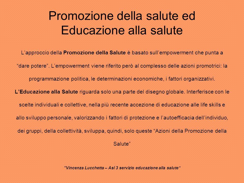 Promozione della salute ed Educazione alla salute