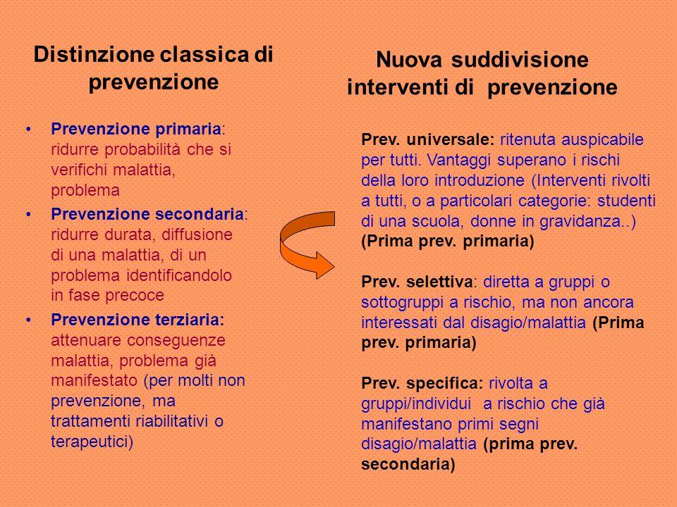 Distinzione classica di prevenzione