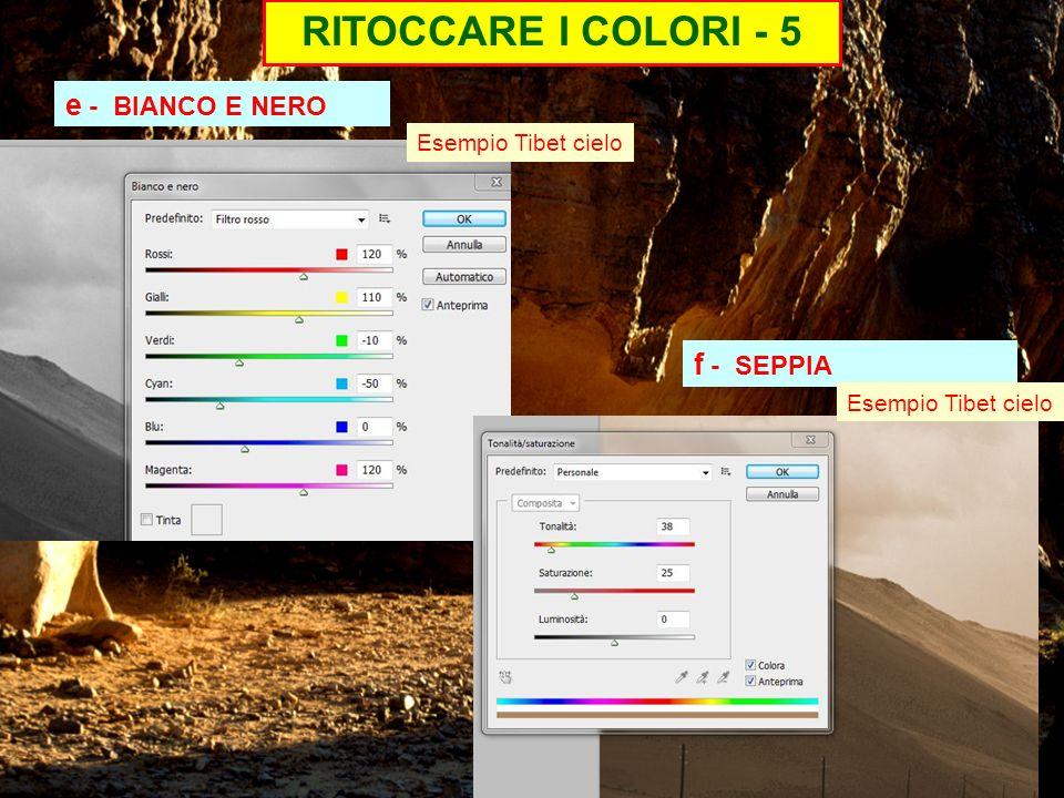 RITOCCARE I COLORI - 5 e - BIANCO E NERO f - SEPPIA