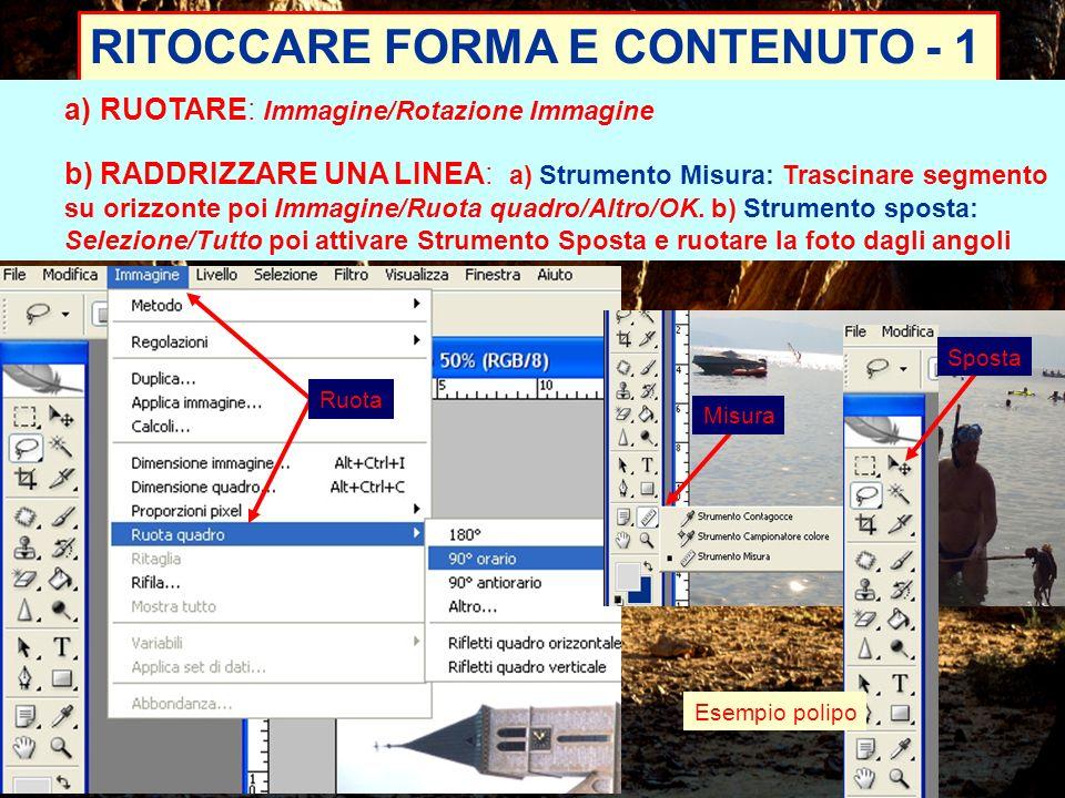 RITOCCARE FORMA E CONTENUTO - 1