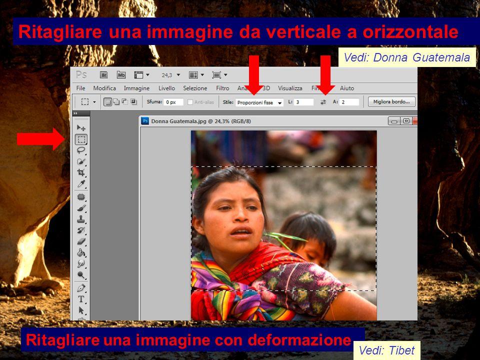 Ritagliare una immagine da verticale a orizzontale