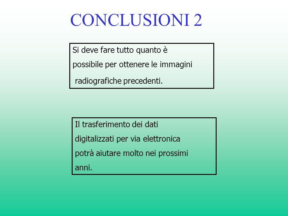 CONCLUSIONI 2 Si deve fare tutto quanto è