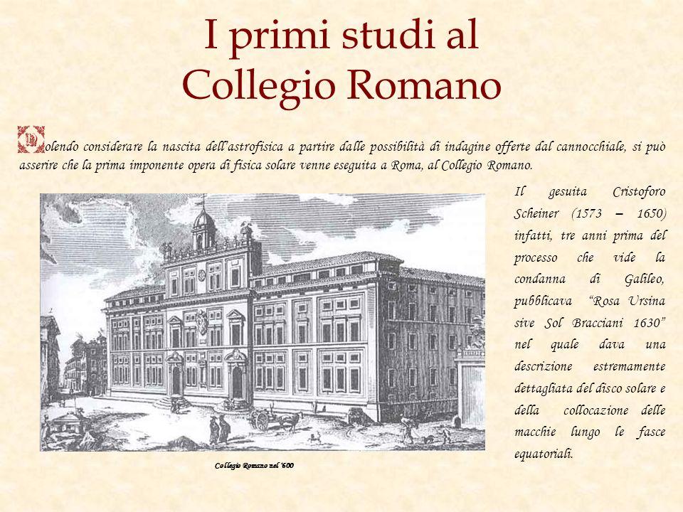 I primi studi al Collegio Romano