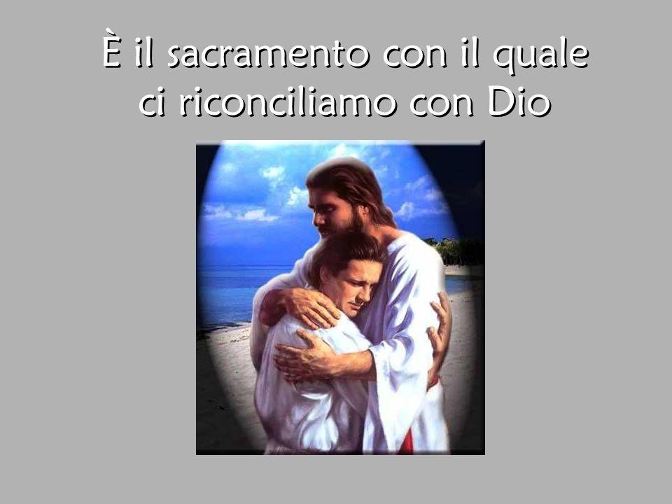 È il sacramento con il quale ci riconciliamo con Dio