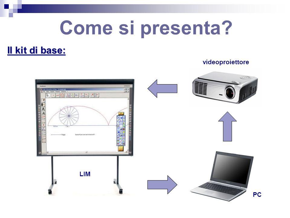 Come si presenta Il kit di base: videoproiettore LIM PC
