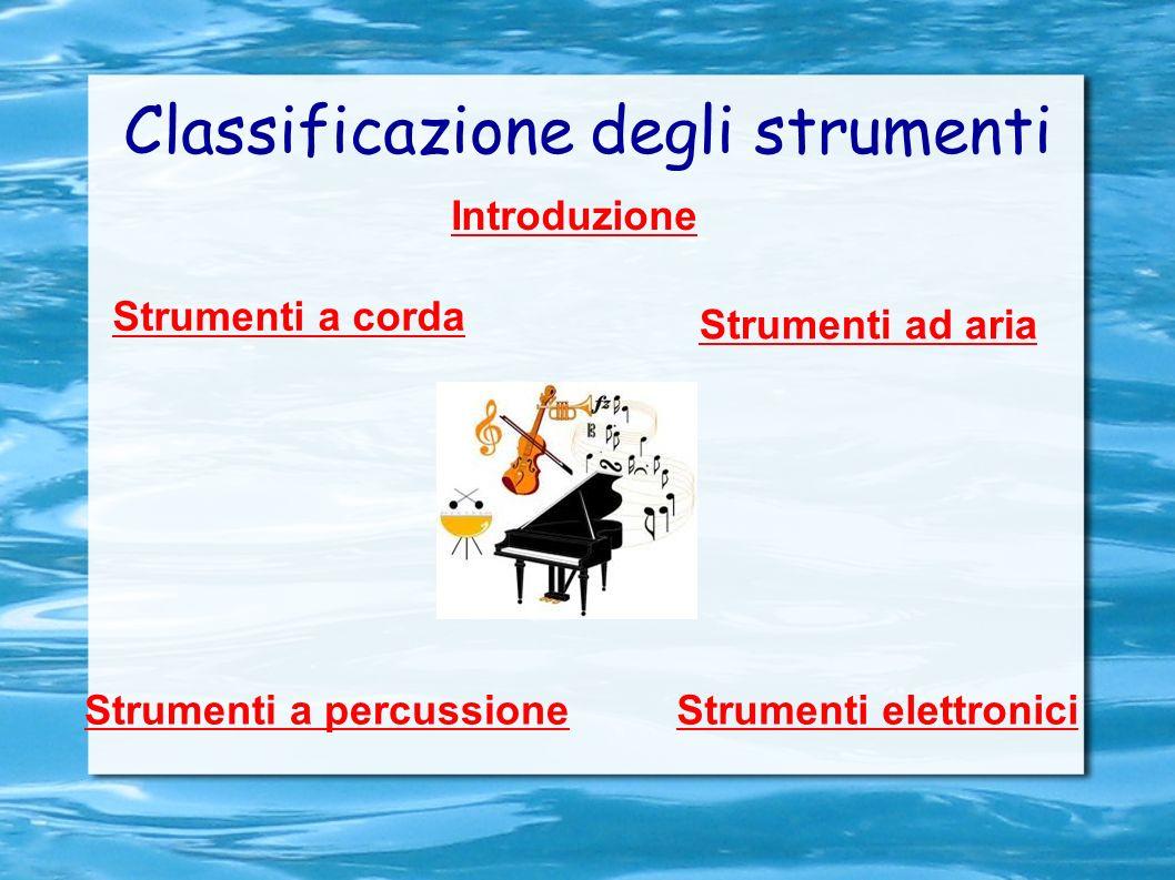 Classificazione degli strumenti