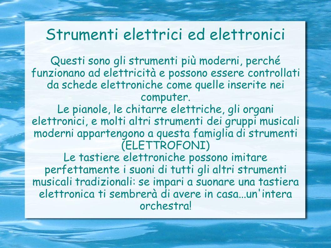 Strumenti elettrici ed elettronici